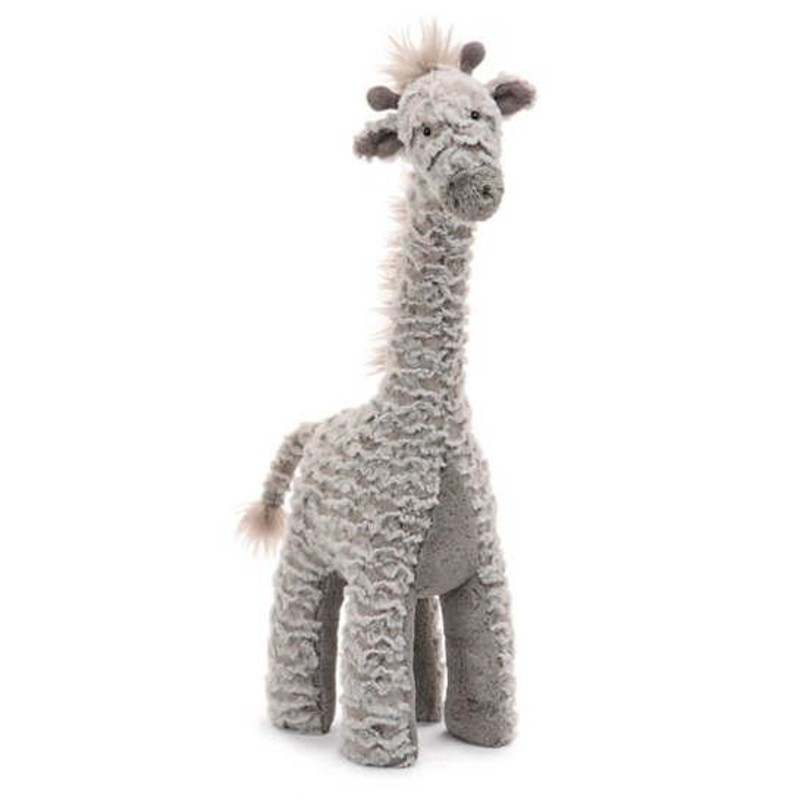 Large size of Joey the Giraffe<br /> <br /> Hand wash only; do not tumble dry, dry clean or iron. Not recommended to clean in a washing machine.