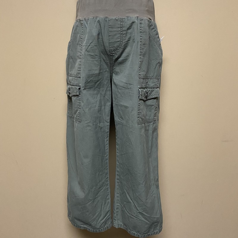 Oh Baby Motherhood Capris, Green, Size: Medium<br /> Condition: Good