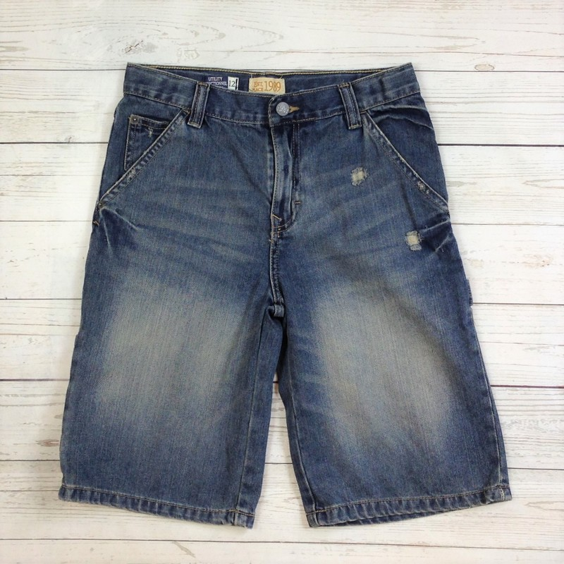 Blue Washed Denim Utility, Childrens Place, Size: 12