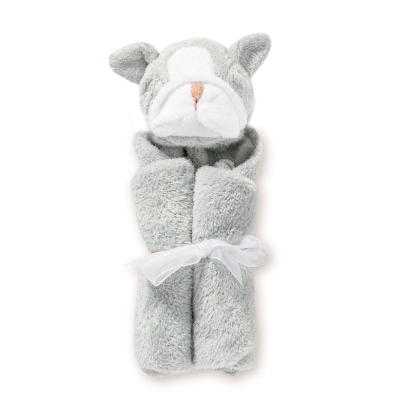 "White Bunny Lovie Blanket<br /> <br /> - Measures 13""x 13""<br /> - Soft and snuggly<br /> - 100% Polyester microfiber<br /> <br /> Machine washable"