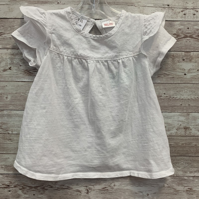 Zara Top Ruffle Edge.
