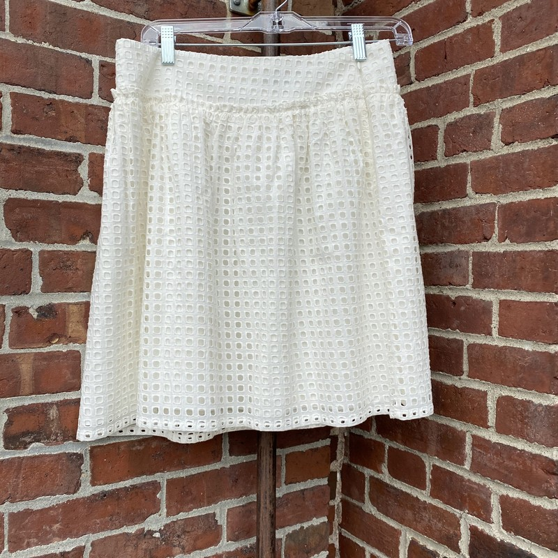Ann Taylor White Skirt, Tan, Size: 4