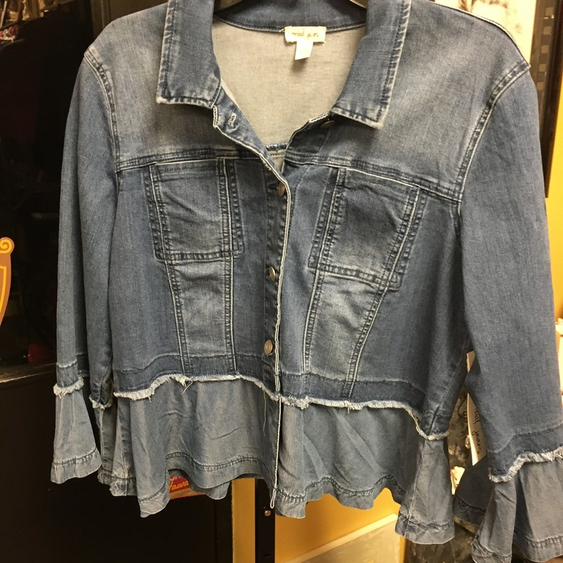 Denim Jacket W/Peblem.