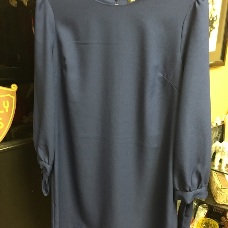 NWT Dress W/sleeve Ties, Navy, Size: 8P.  Summer this up with yellow or gold accessories or wear it in the fall.  You decide.  Cute Simple dress.