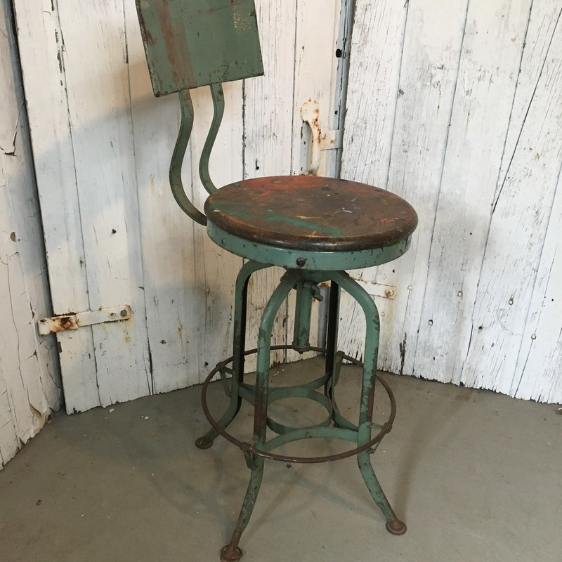 Truly Unique Industrial Drafting Stool!<br /> Perfect Father's Day Gift<br /> <br /> Choose PICK UP IN STORE at Checkout!<br /> Shipping NOT AVAILABLE for this item!<br /> NOTE: 7% PA sales tax included in price of this item