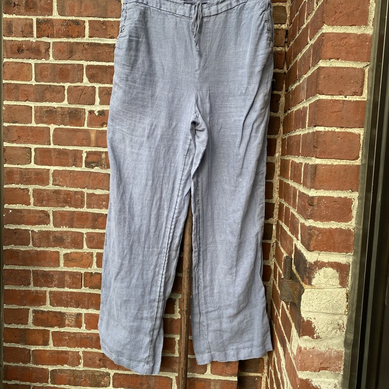 Cynthia Rowley Linen Pant, Blue, Size: Large<br /> Good preowned condition