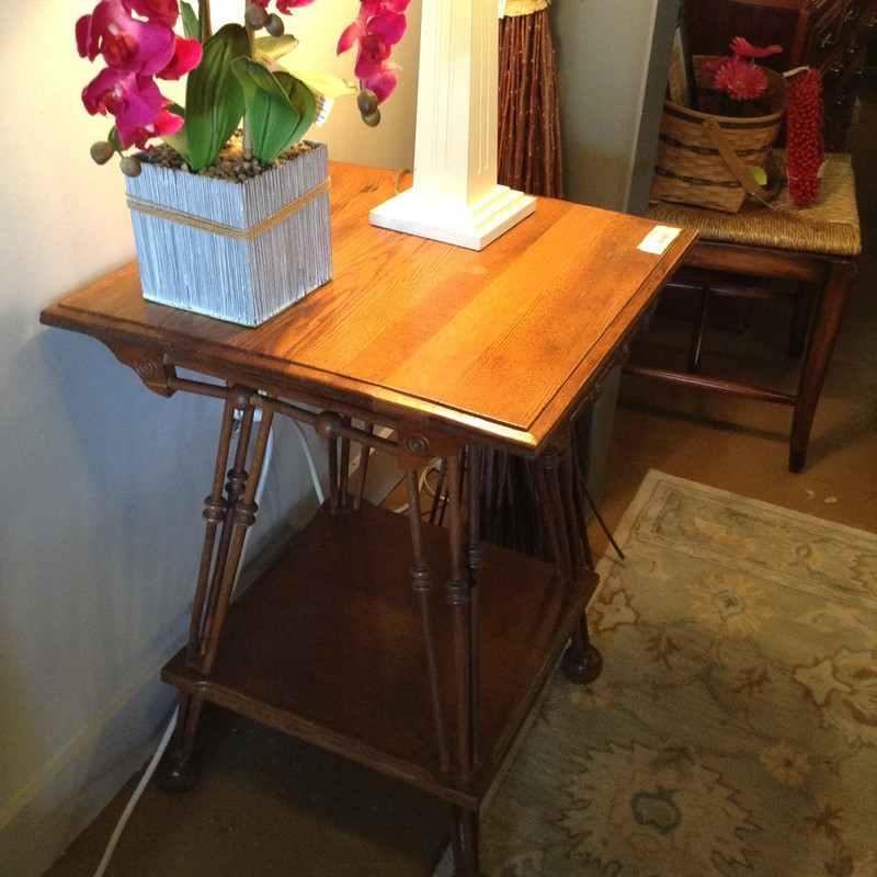 Vintage Sq Side Table