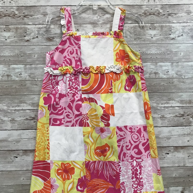 Lilly Pulitzer Sundress, Ylw/pink, Size: 4T Girls