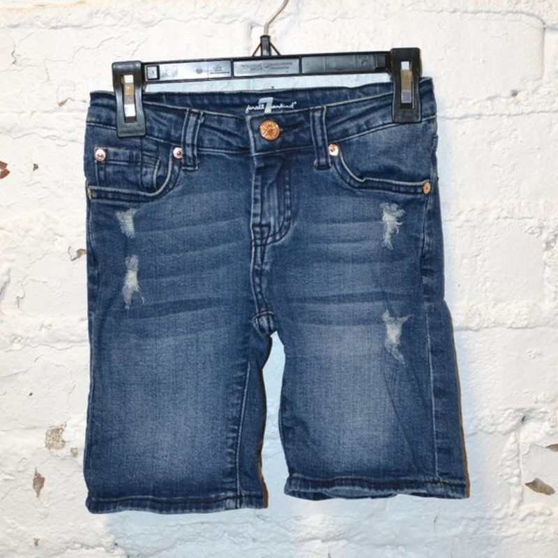 -7 For All Mankind<br /> -Denim<br /> -Distressed<br /> -Great condition<br /> -Size 8
