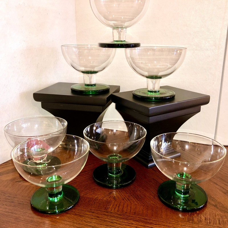 Glassware Cups, Green, Size: Set Of 6<br /> Matching set of 7 82201 $33/set