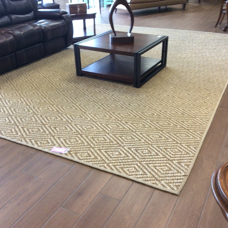 "The CUSTOM piece is ginormous!! It measures a full 11 1/2 feet by 16 feet, and includes a slip resistant pad. The consignor originally paid $4000 for this rug and referred to it as ""Stark Indochine"" (we have no idea what that actually means...). We have it priced at only a fraction of it's original price, $795!"