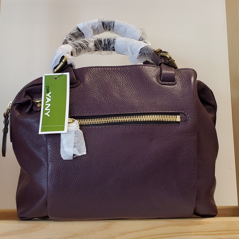 Oryany Purse<br /> NWT<br /> Purple<br /> Gold Hardware<br /> Multi Pocket<br /> Dust bag<br /> Extra strap<br /> Dust Bag