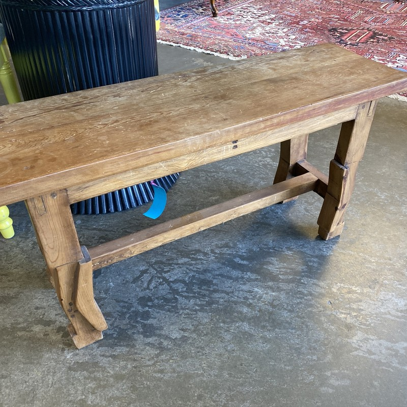 "Marisol Imports Bench, Pine?, Size: 36""X11""X18"""