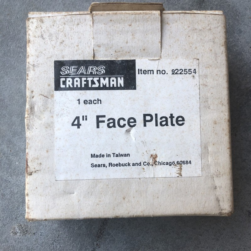 "Craftsman 4"" Lathe Face Plate<br /> <br /> *NEVER USED*"