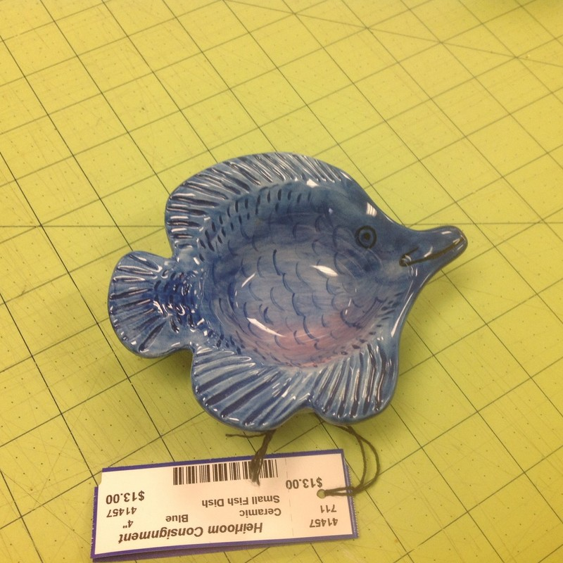 Small Fish Dish, Blue, Size: 4""
