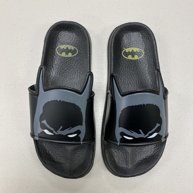 Batman Sandals, Black, Size: Shoe 3