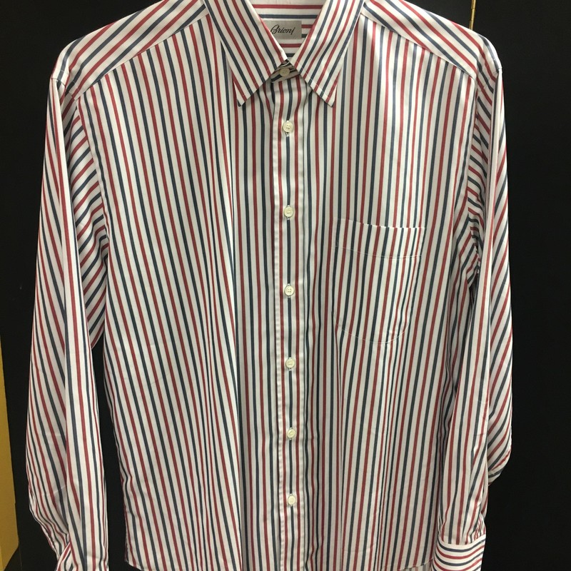 Mens Lng Slv Stripe Shirt.