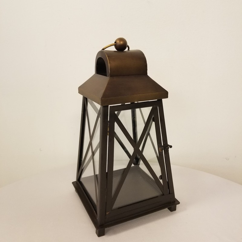Square Lantern, Bronze, Size: 7x14<br /> 2 More Available In Store