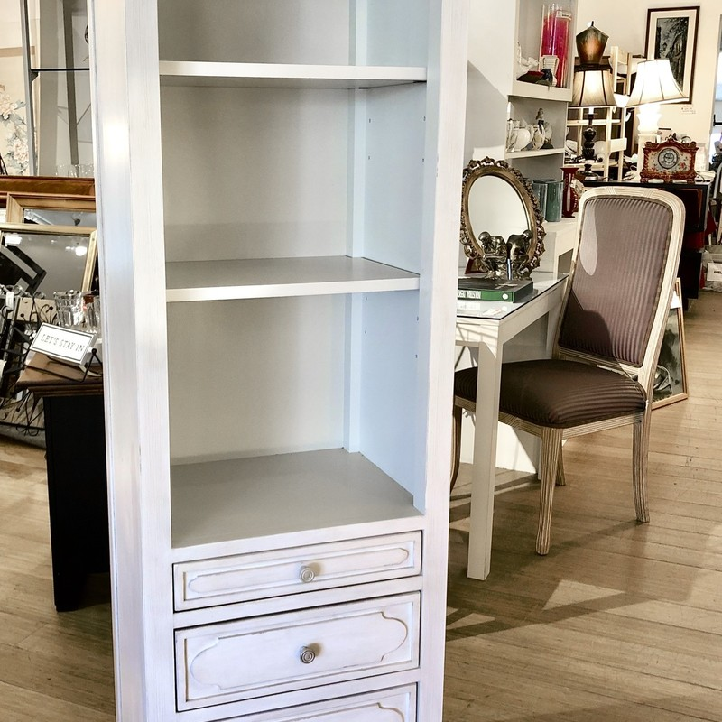 Bookcase Tower Restoration  Hardware, White, Size: 24x17x72