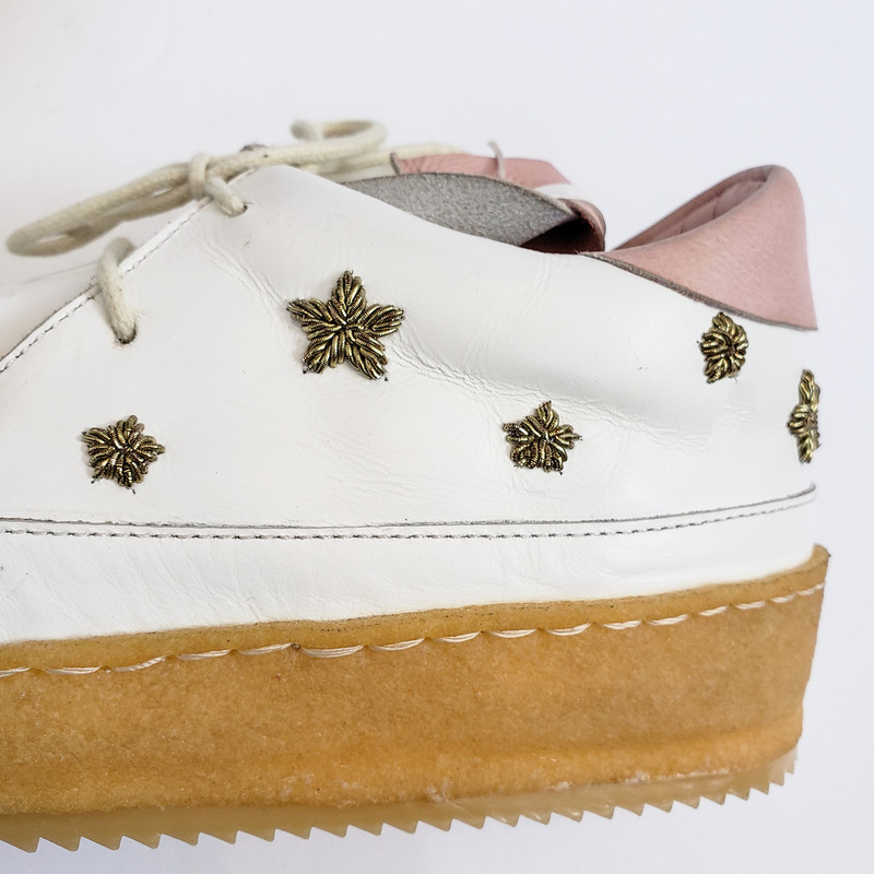 Laid Back London<br /> Handmade<br /> Lace up Leather<br /> With Star Detail<br /> Size 38/BOX NEW!!