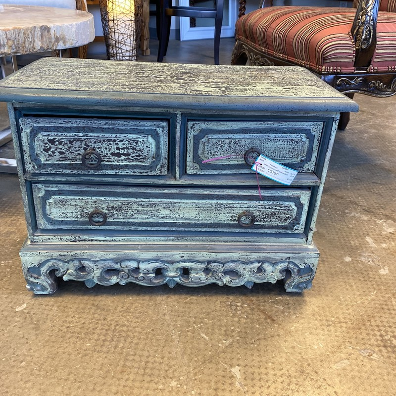 "Indonesian Painted Chest, Small, Size: 23""X12""X16"""