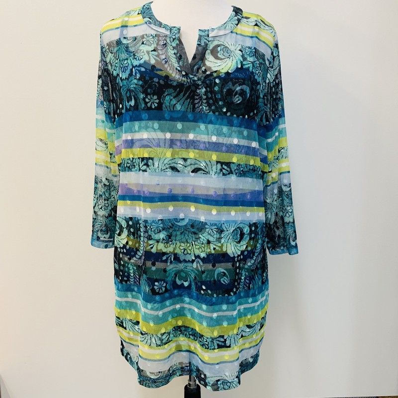 Lynn Ritchie 2-in-1 Tunic<br /> Teal<br /> Size: S/M