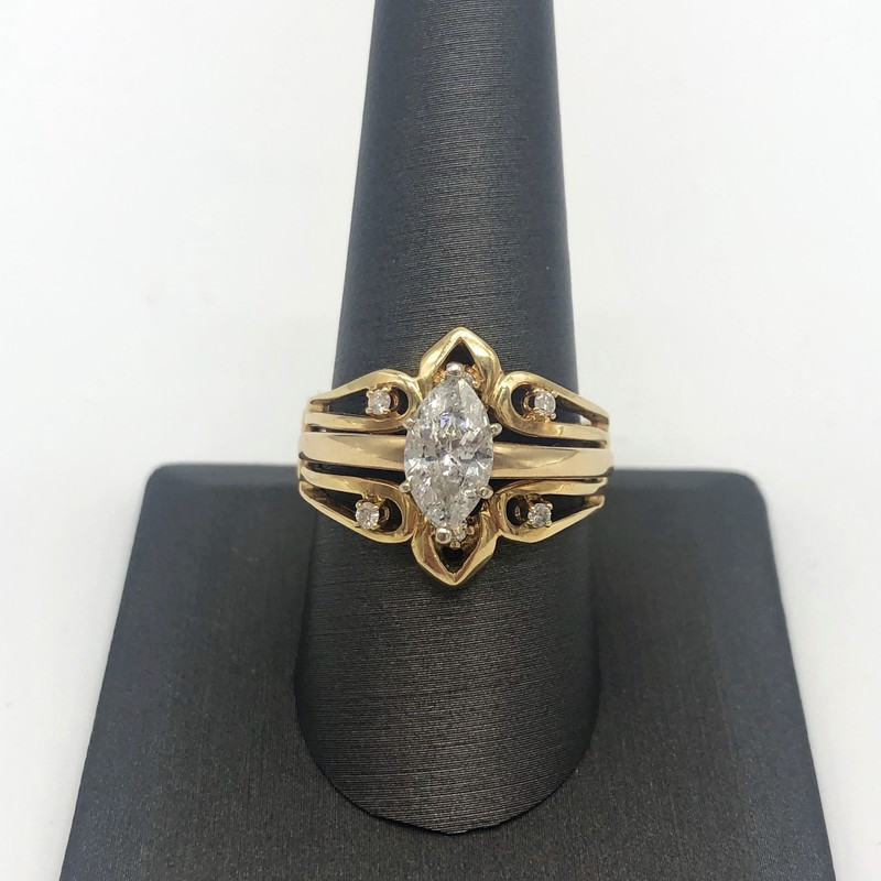 14k 1.24CT Marq W Wrap .1.