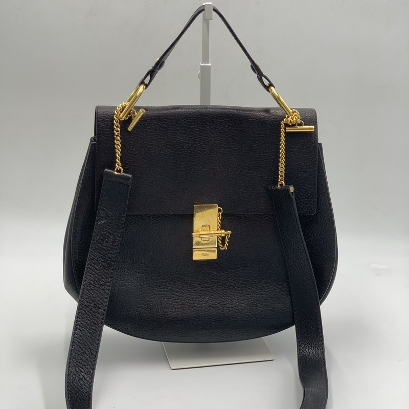 "Chloe Drew Satchel, Black, Size: OS<br /> <br /> condition: GOOD. some tarnishing to hardware. interior pen marks<br /> <br /> - Width: 9.3"" / 23.5 cm<br /> - Height: 8.3"" / 21 cm<br /> - Depth: 3.1"" / 8 cm<br /> - Strap length: 20.5"" / 52 cm<br /> <br /> original retail: $1850<br /> <br /> We guarantee the authenticity of every bag on our site. Each bag comes with either an original sales receipt, original tags, receipt from a trusted reseller, or a Certificate of Authenticity from AuthenticateFirst.com. Established in 2013, AuthenticateFirst.com (http://authenticatefirst.com) is one of the premier authentication services in the US, providing authentications of designer handbags, wallets, small leather goods, footwear, jewelry, and accessories. They employ in-house experts who have decades of experience working with hundreds of luxury brands."