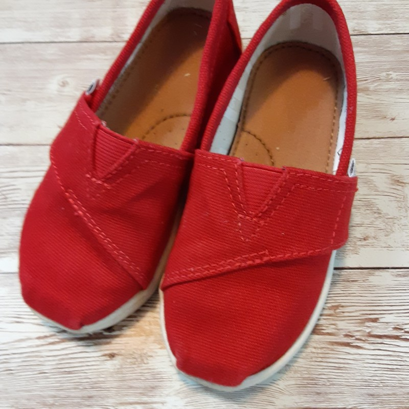 Toms Solid Color, Red, Size: Shoes 8