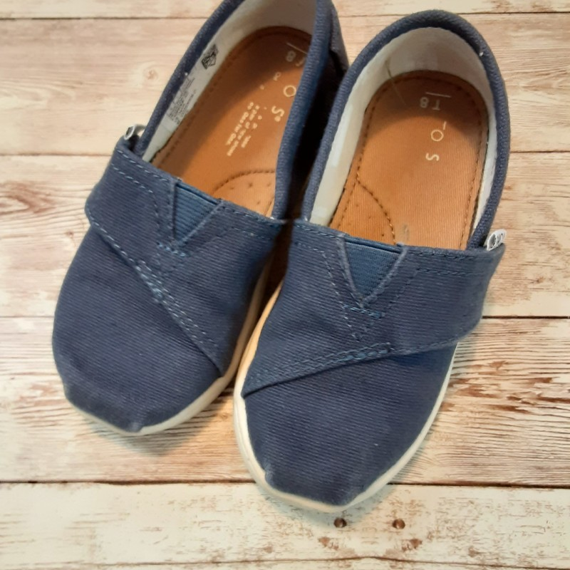 Toms Solid Color, Blue, Size: Shoes 8