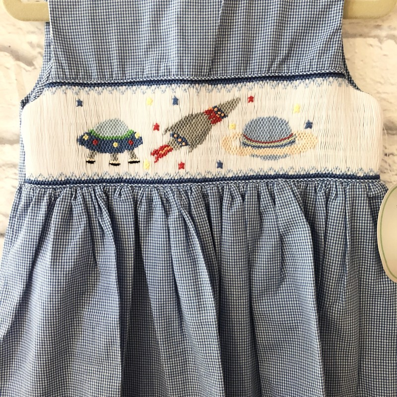 Rosalina Smock Dress, Space, Size: 3T