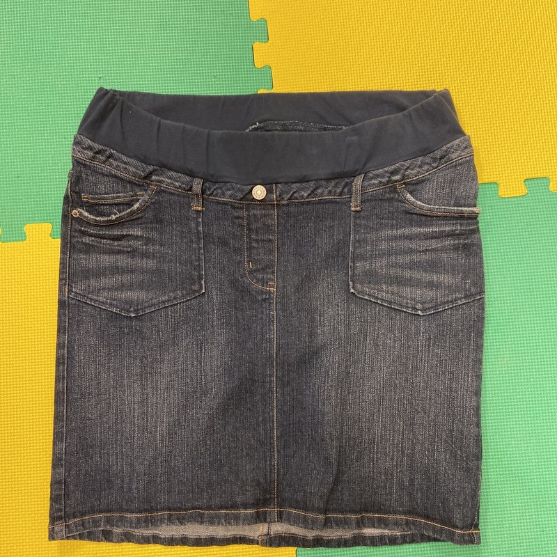Motherhood Skirt, Jean, Size: Medium<br /> Condition: Good-Excellent