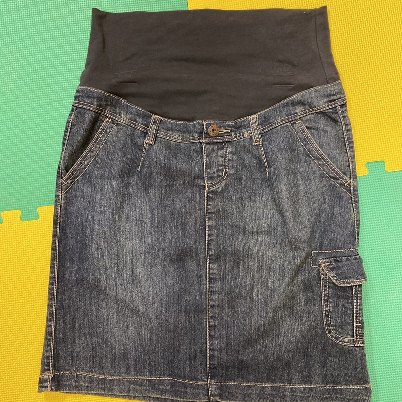 Thyme Jean Skirt, Blue, Size: Medium<br /> Condition: Good
