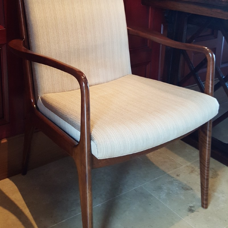 Custom made dining chair by C. Mariani Custom Studio in San Francisco California.  Currently we have 10 available.