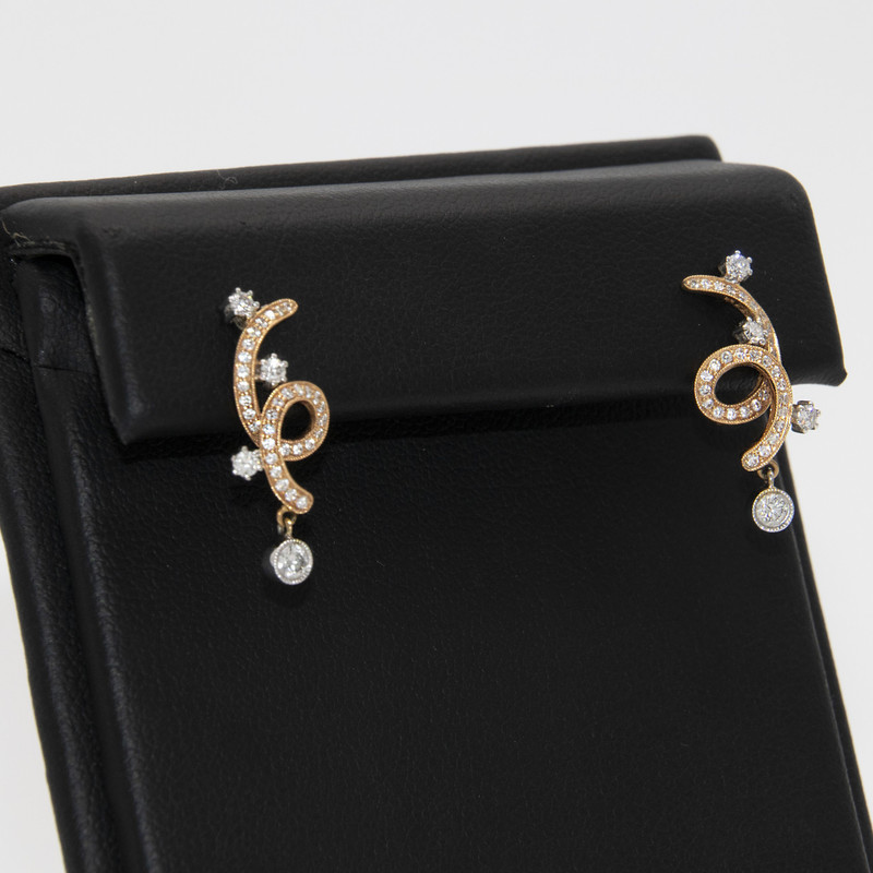 18k Wg .59 Ctw Dia Earrings, None, Size: LHCK