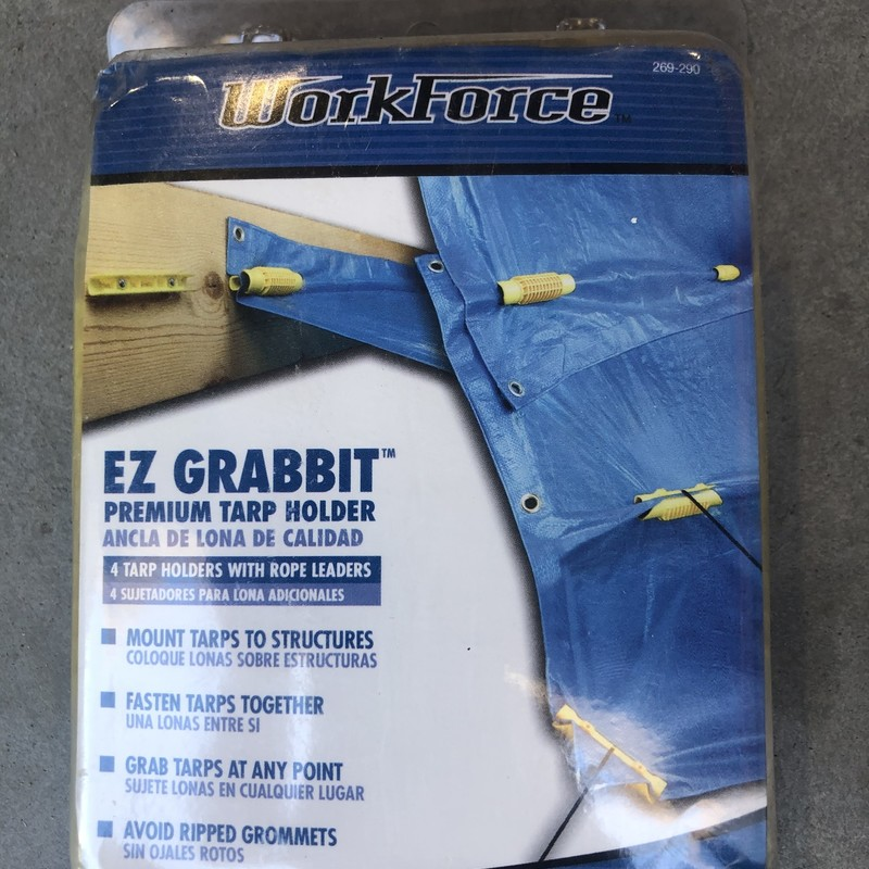 EZ Grabbit Tarp Holder.