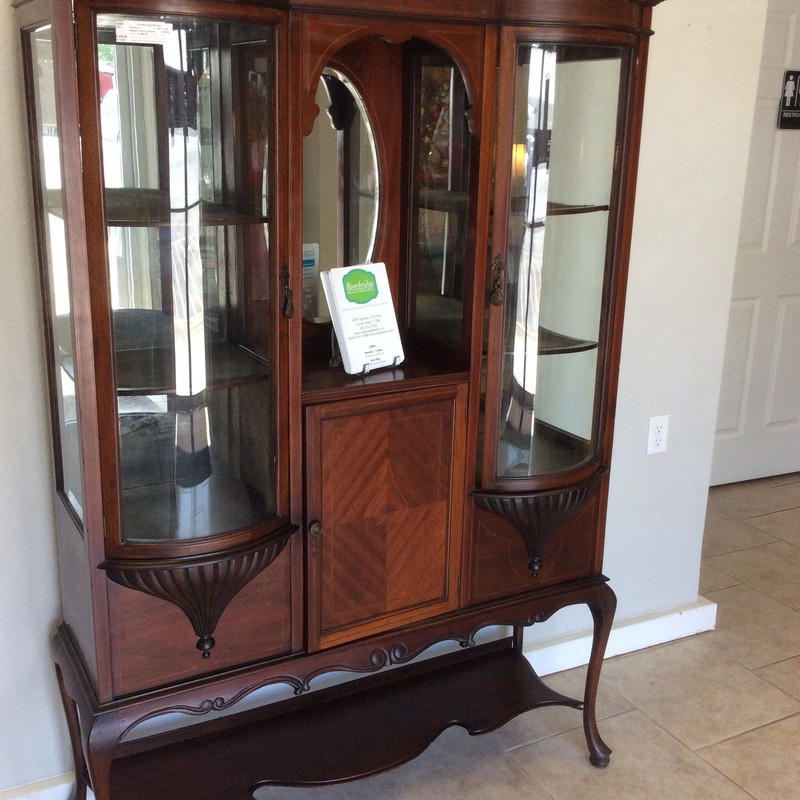 "BARGAIN ALERT!!! We believe this piece originates from the late 1800s. It is very delicate and even somwhat fragile. The internal ""shelves"" are little more than covered cardboard, though the lower shelves are sturdy. ONLY 4295! Stop by and see it in person!"