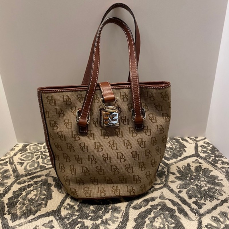 "Dooney & Bourke Bucket Bag<br /> Tan Brown Size 11"" X 18""H"