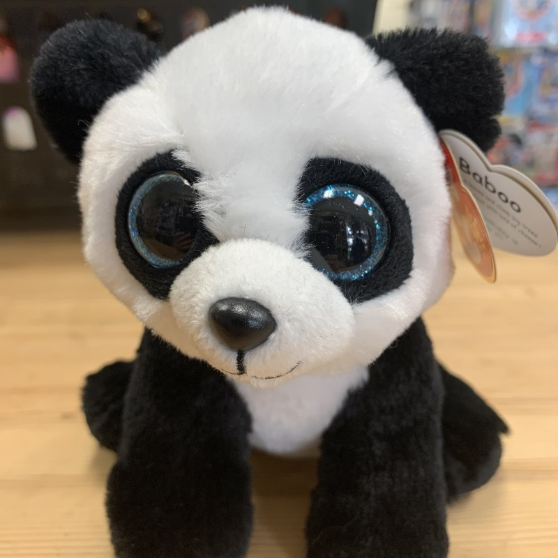 Bambo Panda Small, Black, Size: Plush