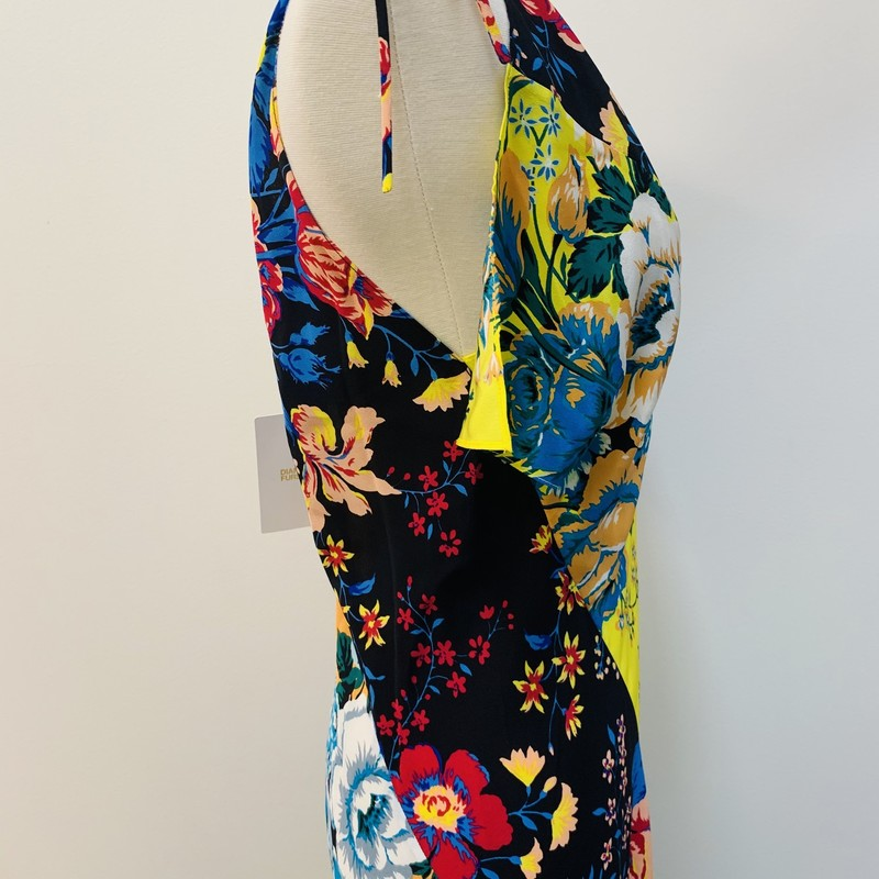 Diane Furstenberg Bobba Dress<br /> Multi-color, Floral<br /> Size: Large