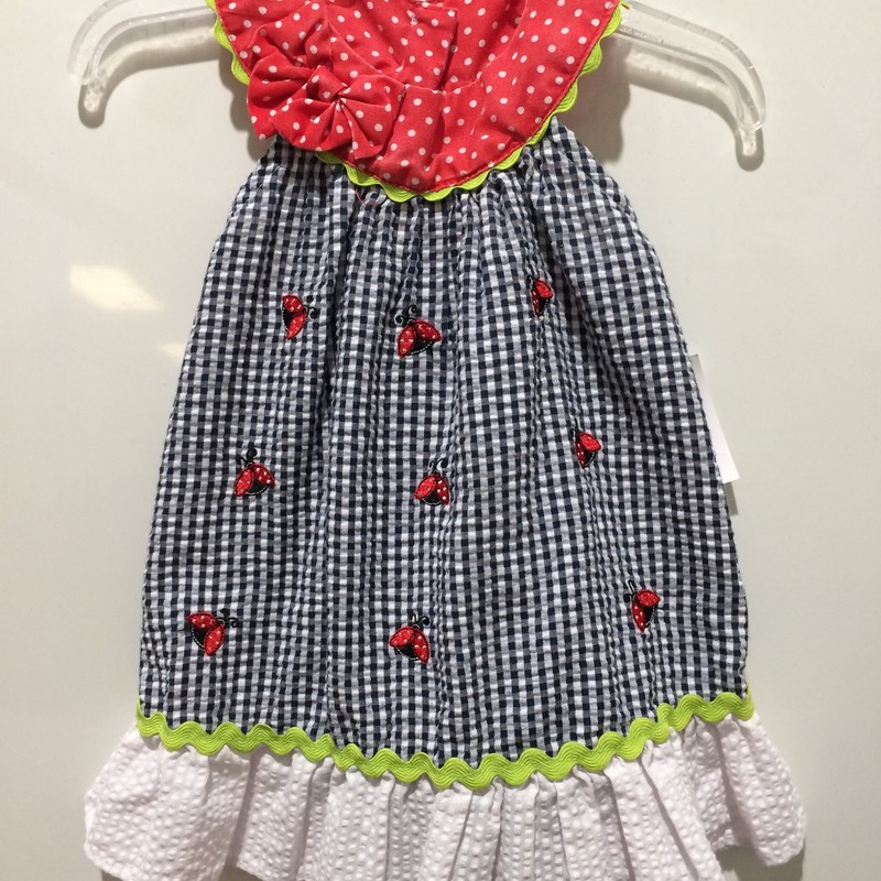 Seersucker Dress, Blue, Size: 9m Girl