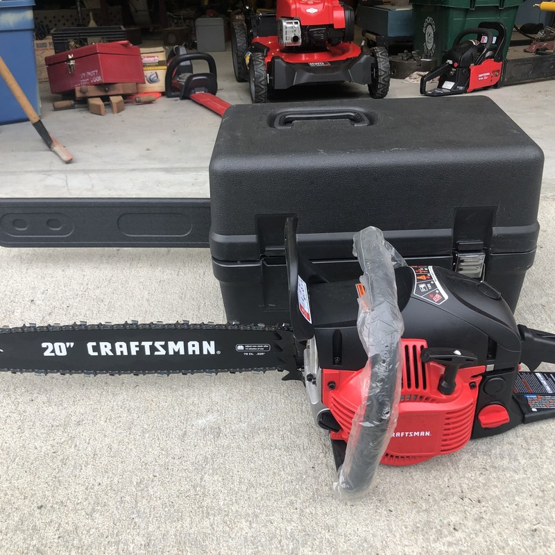 "Craftsman 20"" 46cc GAS Chainsaw<br /> <br /> *NEVER USED*"