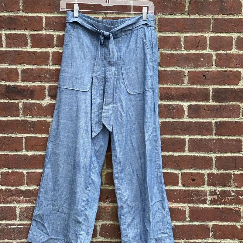 J Crew linen pants with built in belt on the front. Size 2.