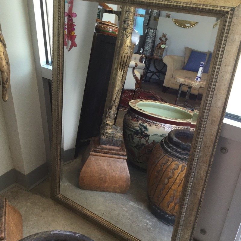 "Gold Mirror, Speckled Frame, Size: 29""x42"""