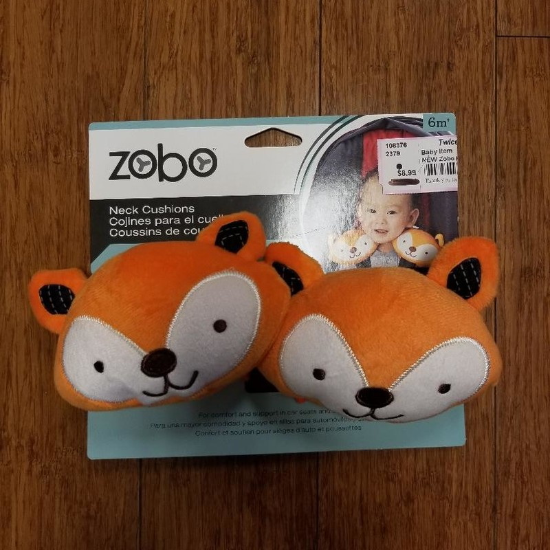 NEW Zobo Neck Cushions<br /> Cute orange fox faces