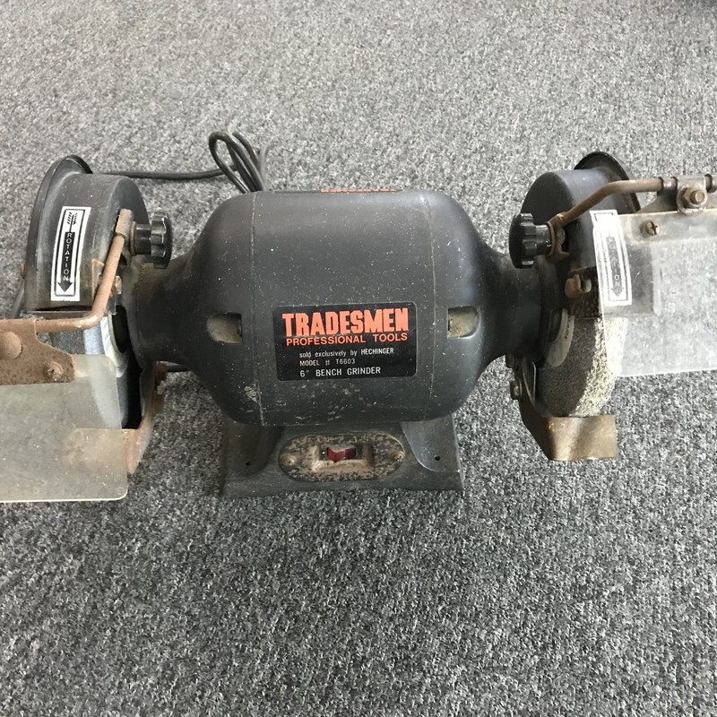 "Bench Grinder, Tradesman, Size: 6""<br /> <br /> NO SHIPPING"