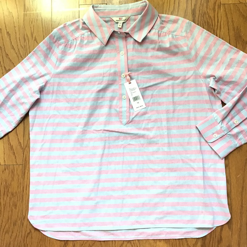 Vineyard Vines Shirt NEW, Multi, Size: 12<br /> <br /> <br /> WOMENS<br /> <br /> retail price on tag $88<br /> <br /> ALL ONLINE SALES ARE FINAL<br /> NO RETURNS OR EXCHANGES<br /> PLEASE ALLOW 1 TO 2 WEEKS FOR SHIPMENT
