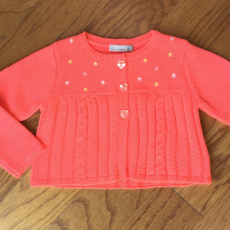 Catimini Cardigan, Orange, Size: 18m<br /> <br /> <br /> ALL ONLINE SALES ARE FINAL. NO RETURNS OR EXCHANGES. PLEASE ALLOW 1 TO 2 WEEKS FOR SHIPMENT