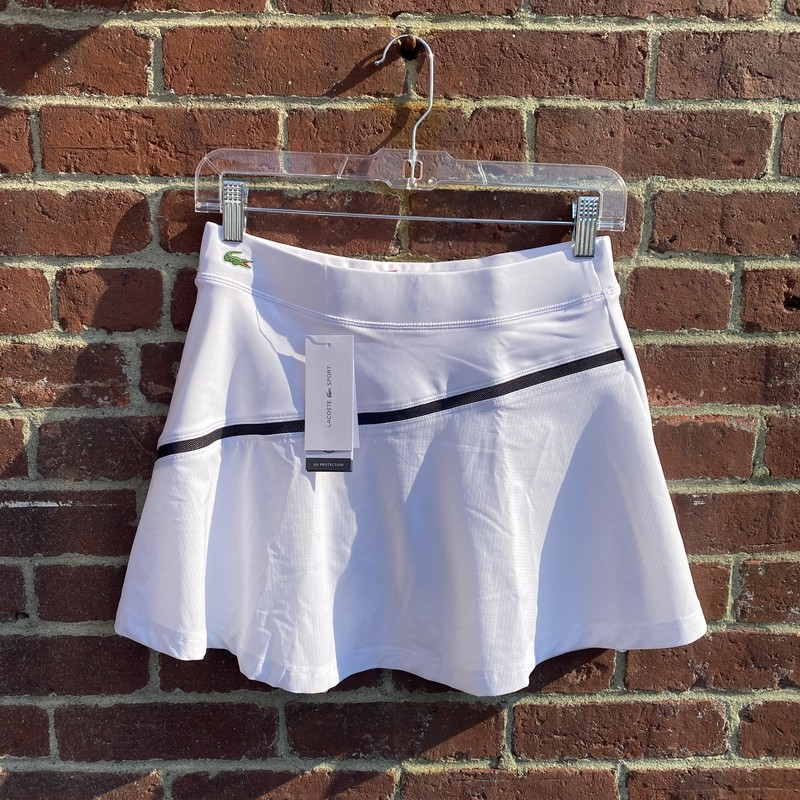 Lacoste Sport Tennis Skir, White, Size: Small<br /> size 34