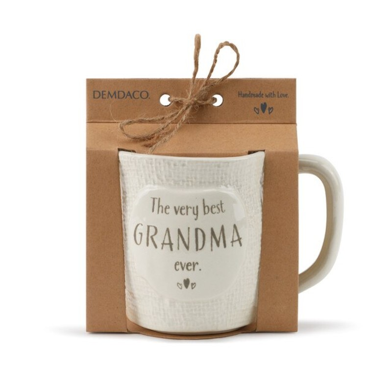 """This mug belongs to the very best grandma ever""<br /> <br /> - Ceramic<br /> - Microwave and dishwasher safe"